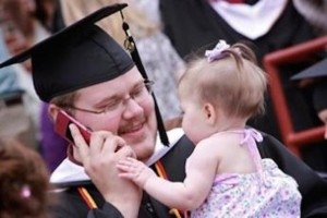 graduate and child