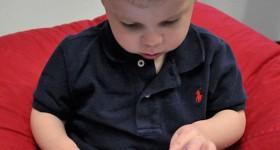 Child with iPad